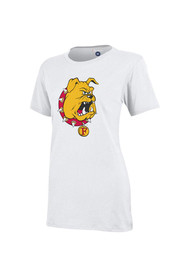 Ferris State Bulldogs Womens Campus White T-Shirt