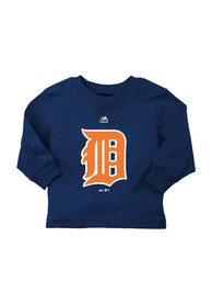 Detroit Tigers Baby Navy Blue Infant T-Shirt