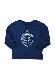 Sporting Kansas City Baby Navy Blue Basic T-Shirt