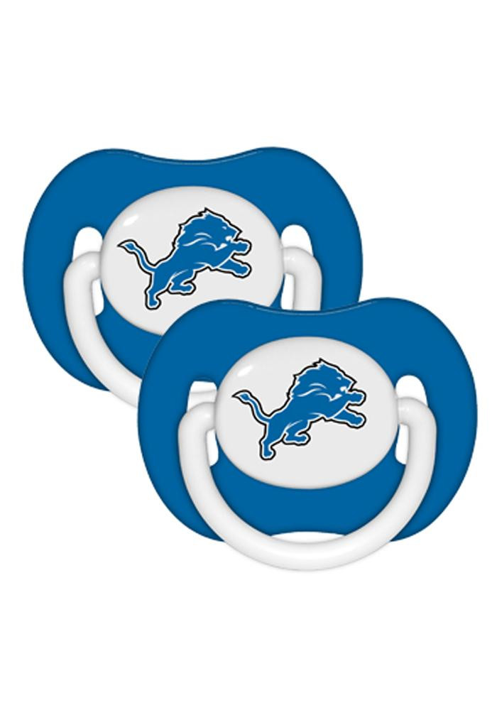 Detroit Lions 2 Pack Baby Pacifier - Image 1