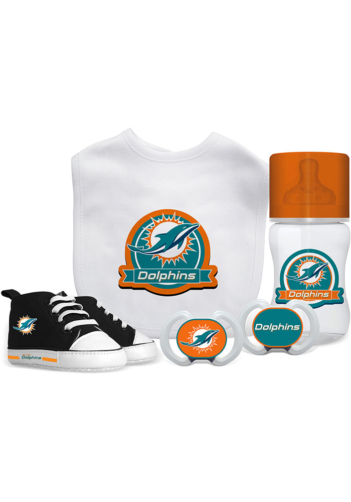 Miami Dolphins 5-Piece Baby Baby Gift Set - Image 1