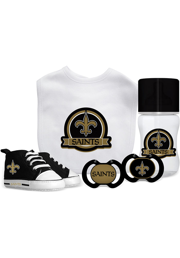 New Orleans Saints 5-Piece Baby Baby Gift Set - Image 1