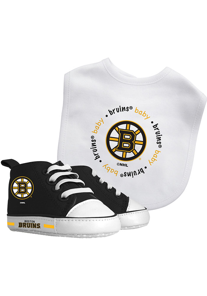 Boston Bruins Bib with Pre-Walker Baby Gift Set - Image 1