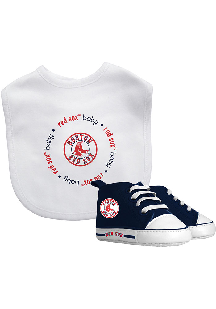 Boston Red Sox Bib with Pre-Walker Baby Gift Set - Image 1