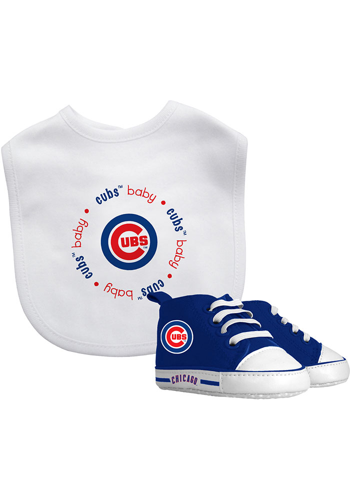 Chicago Cubs Bib with Pre-Walker Baby Gift Set - Image 1