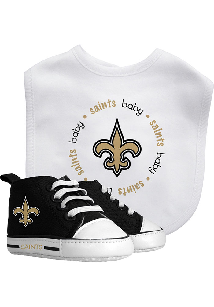 New Orleans Saints Bib with Pre-Walker Baby Gift Set - Image 1