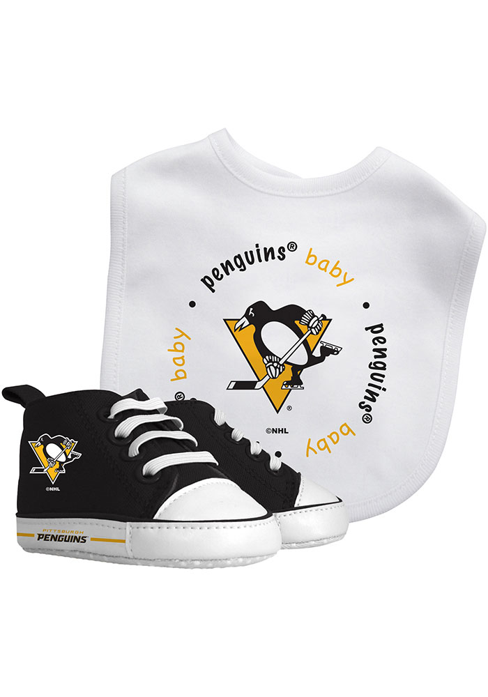 Pittsburgh Penguins Bib with Pre-Walker Baby Gift Set - Image 1