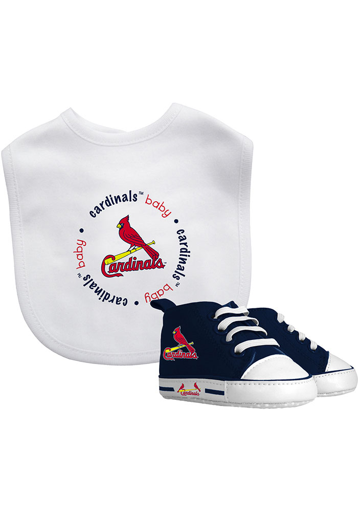 St Louis Cardinals Bib with Pre-Walker Baby Gift Set - Image 1