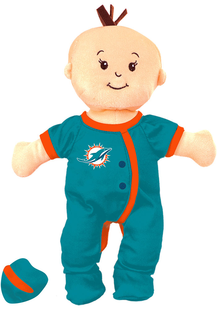 Miami Dolphins Wee Baby Fan Doll Plush - Image 1