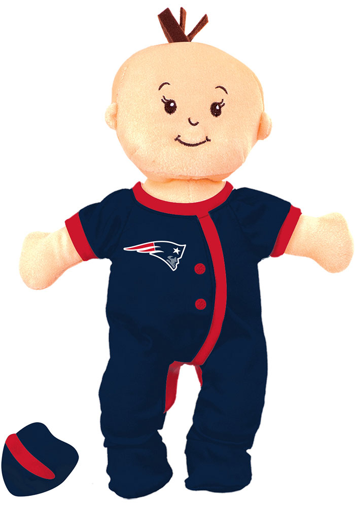 New England Patriots Wee Baby Fan Doll Plush - Image 1
