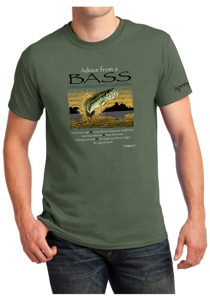 Springfield Military Green Advice From A Bass Short Sleeve T-Shirt - Image 1