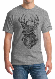 Missouri Graphite Heather Buck Fusion Short Sleeve T-Shirt