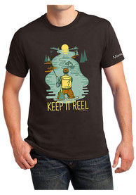 Missouri Keep It Reel Short Sleeve T-Shirt -Dark Chocolate