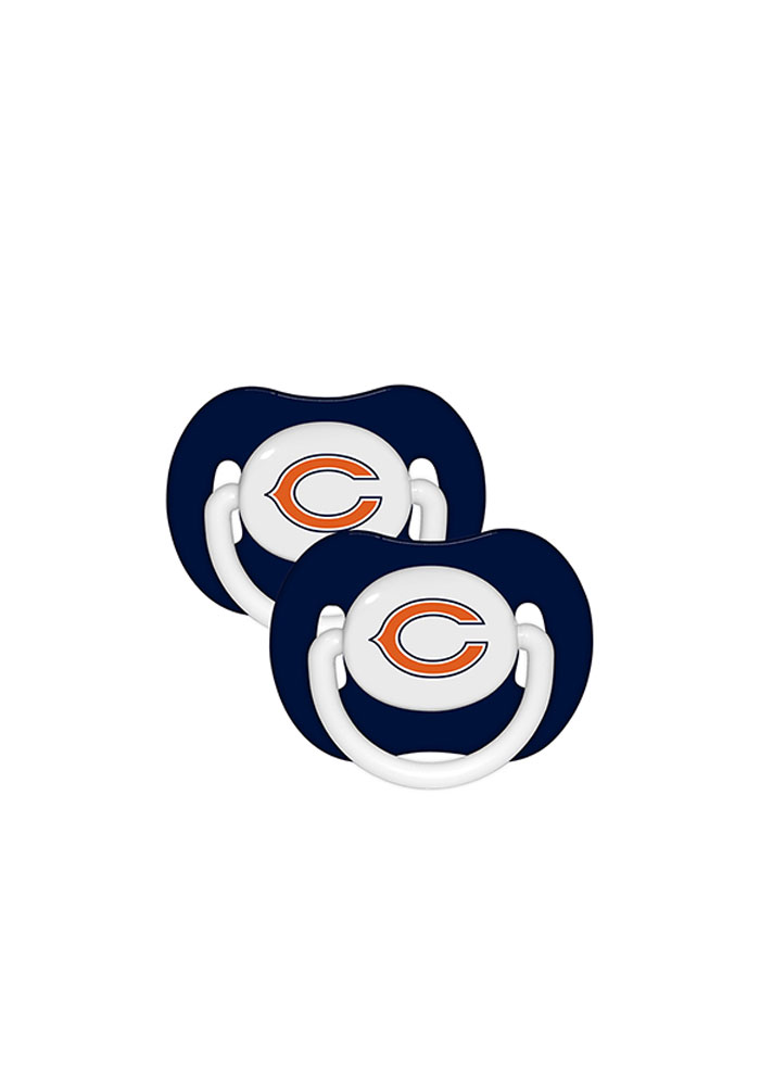 Chicago Bears 2 Pack Baby Pacifier - Image 1