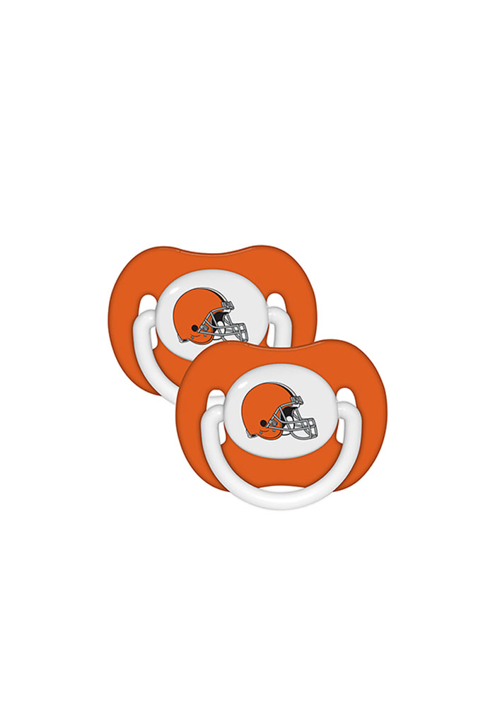 Cleveland Browns 2 Pack Baby Pacifier - Image 1