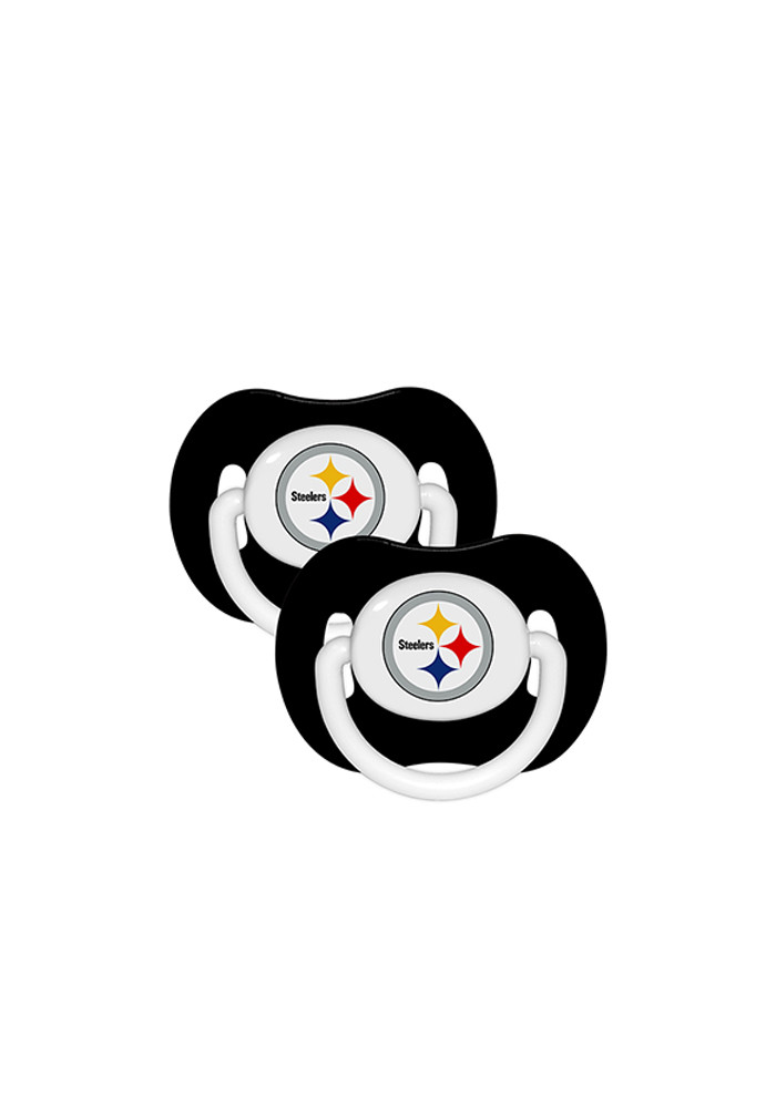 Pittsburgh Steelers 2 Pack Baby Pacifier - Image 1
