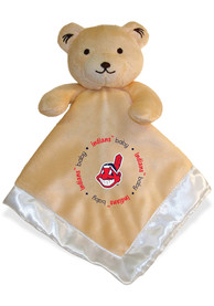 Cleveland Indians Baby Security Bear Blanket - Tan