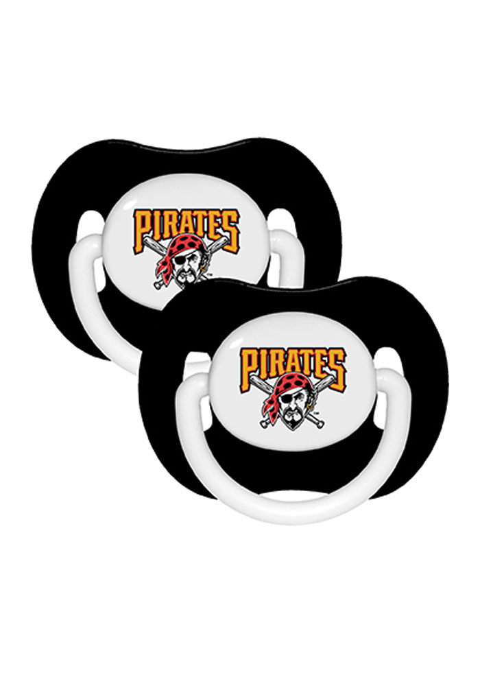 Pittsburgh Pirates Team Color 2 Pack Baby Pacifier - Image 1