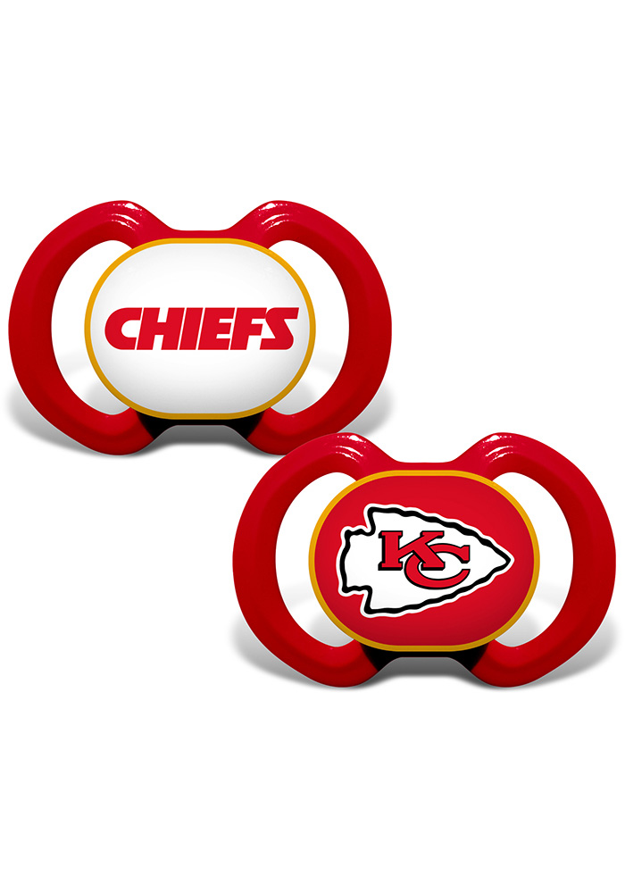 Kansas City Chiefs 2 pack Baby Pacifier - Image 1