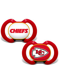 Kansas City Chiefs Baby 2 pack Pacifier - Red