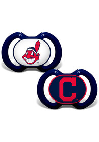 Cleveland Indians Baby Team Logo Pacifier - Navy Blue