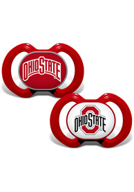Ohio State Buckeyes Baby Team Logo Pacifier - Red