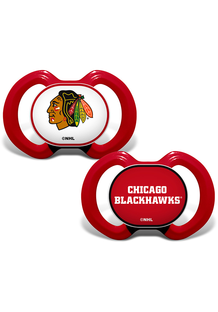 Chicago Blackhawks 2PK Baby Pacifier - Image 1
