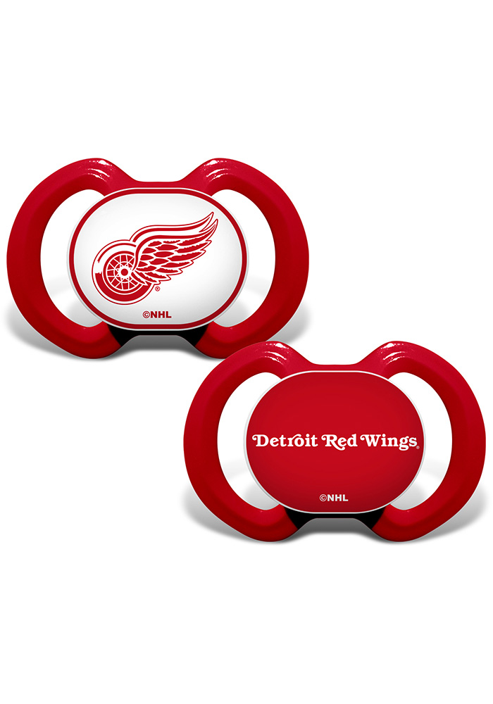 Detroit Red Wings 2PK Baby Pacifier - Image 1