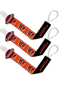 Cincinnati Bengals Baby 3pk Pacifier - Orange