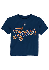 Detroit Tigers Baby Navy Blue Infant Wordmark One Piece