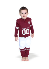 Texas A&M Aggies Toddler Footysuit Top and Bottom - Maroon