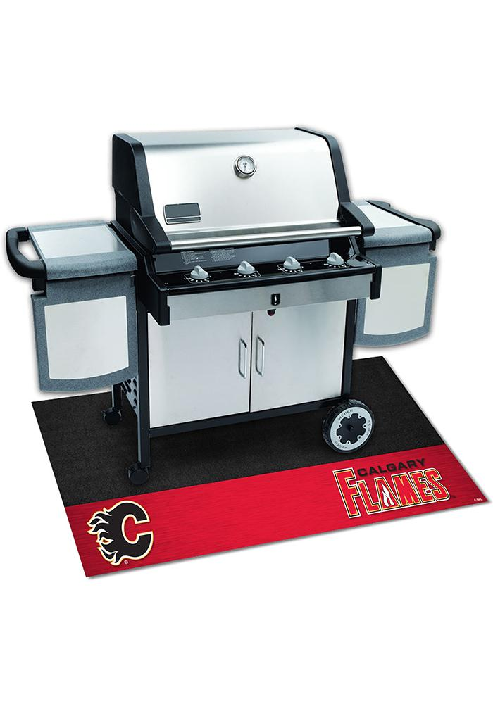 Calgary Flames 26x42 BBQ Grill Mat - Image 1