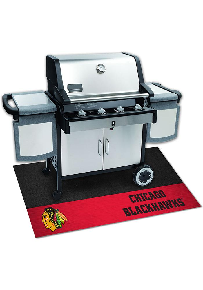 Chicago Blackhawks 26x42 BBQ Grill Mat - Image 2