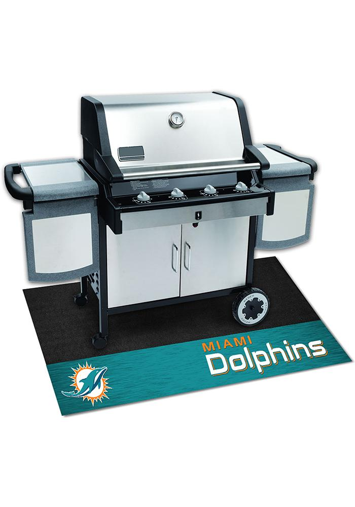 Miami Dolphins 26x42 BBQ Grill Mat - Image 1