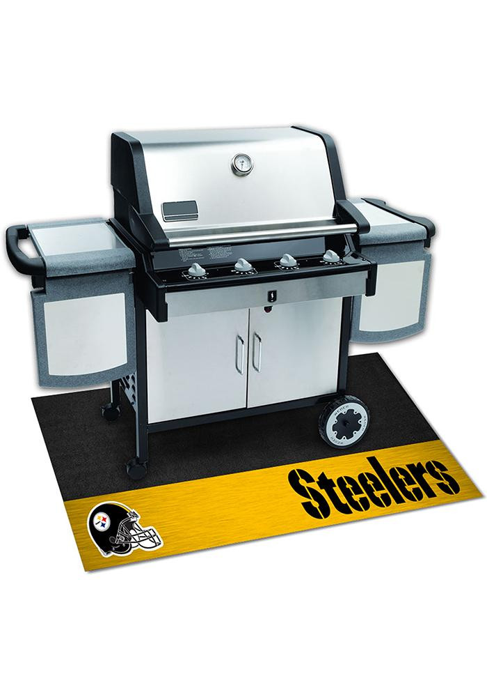 Pittsburgh Steelers 26x42 BBQ Grill Mat - Image 2