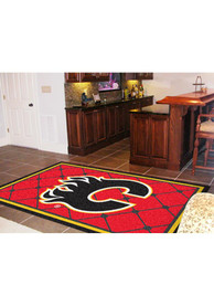 Calgary Flames Team Logo Interior Rug