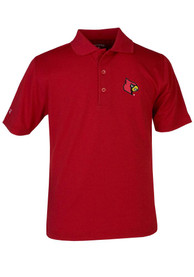 Antigua Louisville Cardinals Youth Red Pique Polo