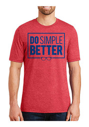 Joe Maddon Chicago Red Do Simple Better Fashion Player Tee