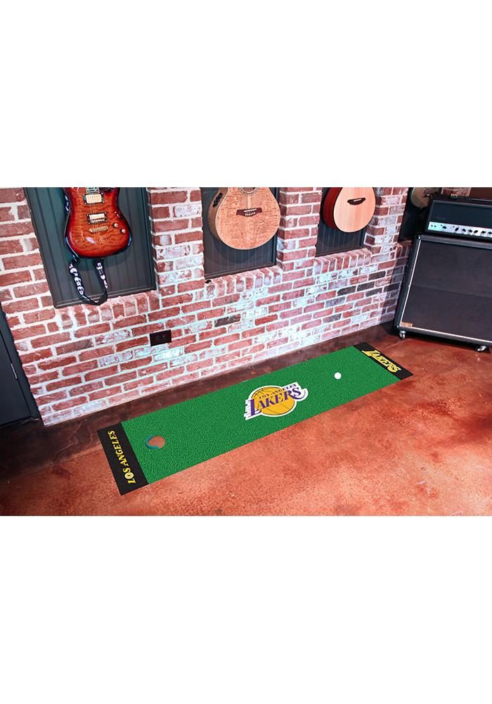 Los Angeles Lakers 18x72 Putting Green Runner Interior Rug - Image 1