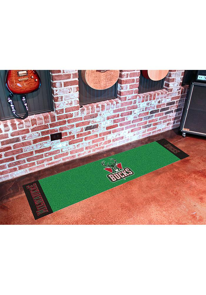 Milwaukee Bucks 18x72 Putting Green Runner Interior Rug - Image 1