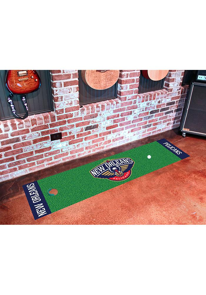 New Orleans Pelicans 18x72 Putting Green Runner Interior Rug - Image 1