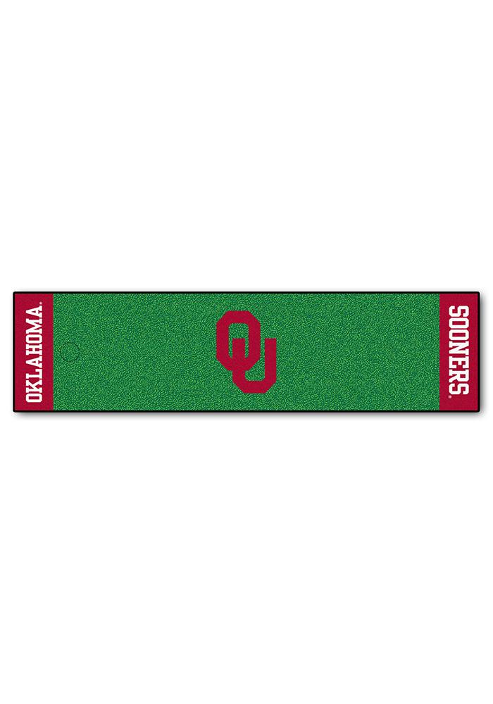 Oklahoma Sooners 18x72 Putting Green Runner Interior Rug - Image 1