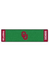 OU Sooners 18x72 Putting Green Runner Interior Rug