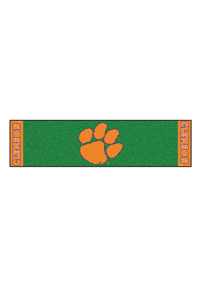 Clemson Tigers 18x72 Putting Green Runner Interior Rug - Image 1