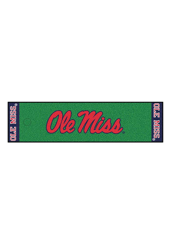 Ole Miss Rebels 18x72 Putting Green Runner Interior Rug - Image 1