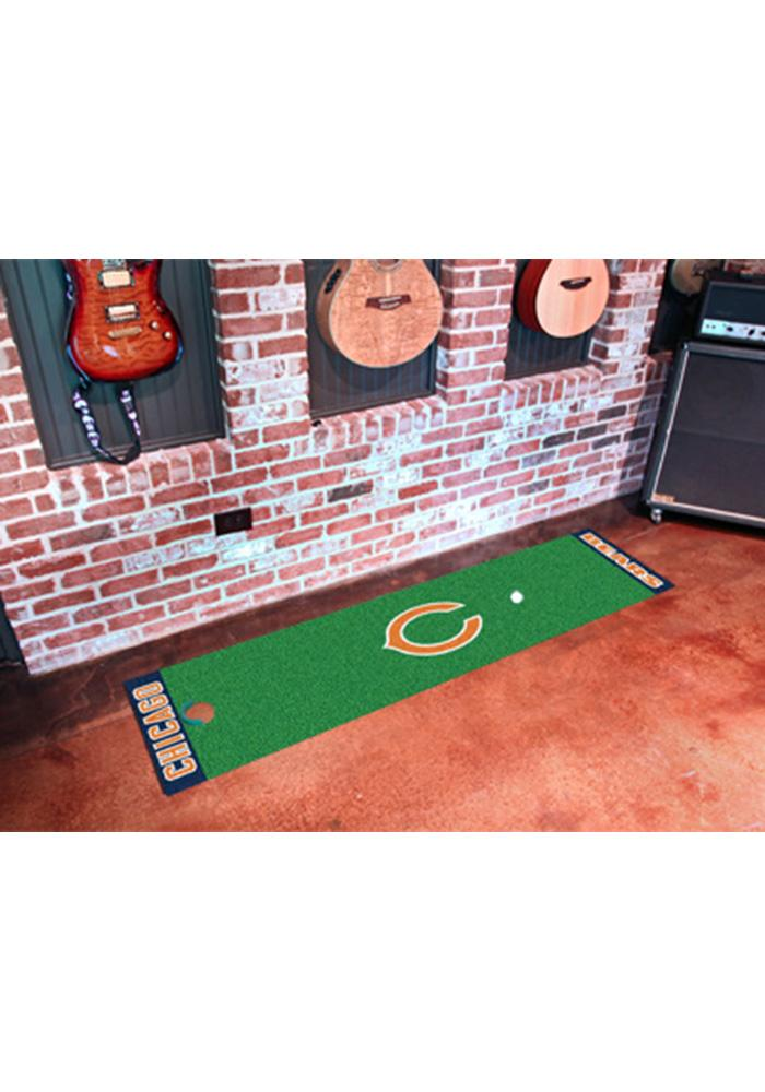 Chicago Bears 18x72 Putting Green Runner Interior Rug - Image 1