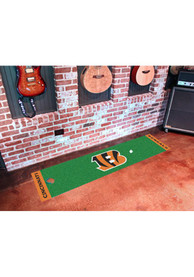 Cincinnati Bengals 18x72 Putting Green Runner Interior Rug