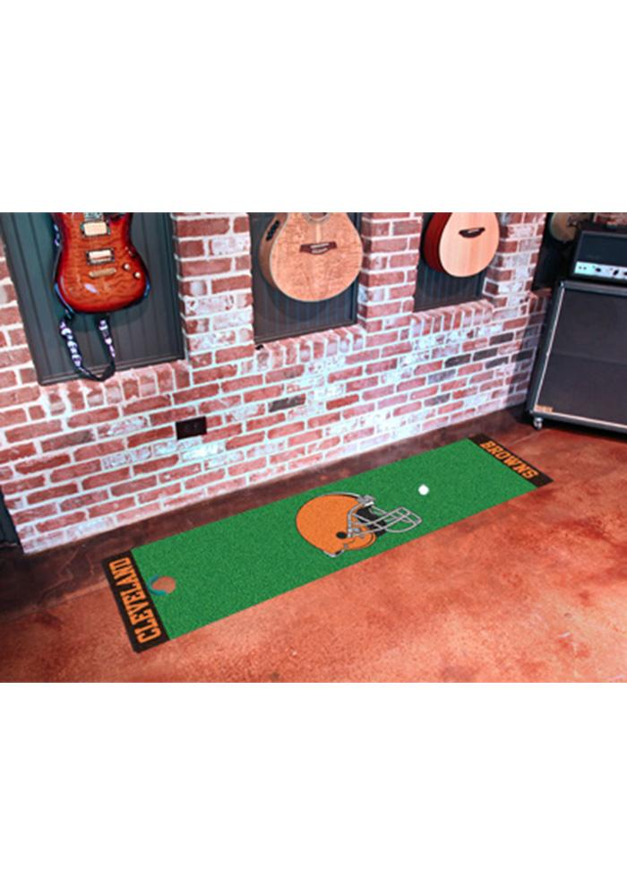 Cleveland Browns 18x72 Putting Green Runner Interior Rug - Image 1