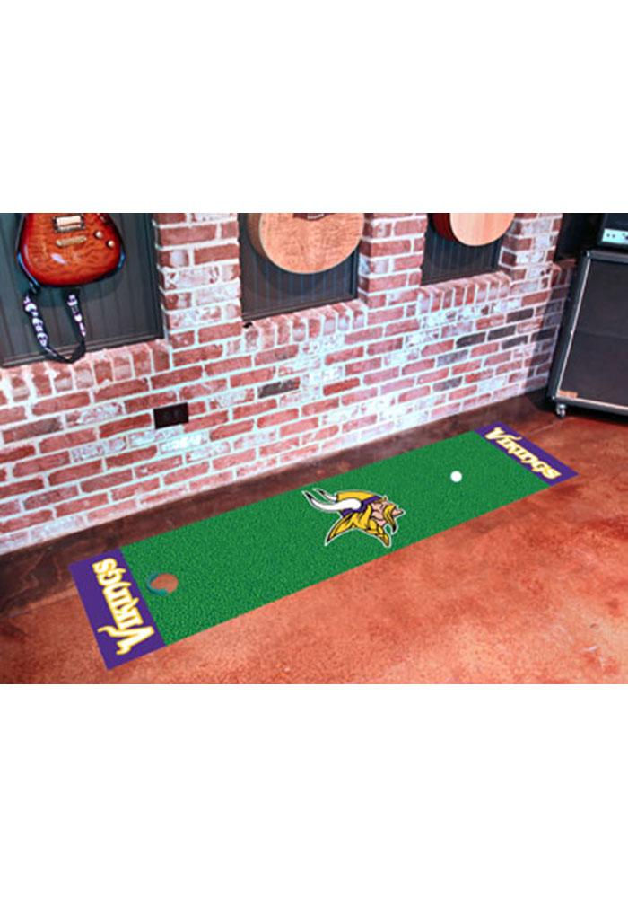 Minnesota Vikings 18x72 Putting Green Runner Interior Rug - Image 1