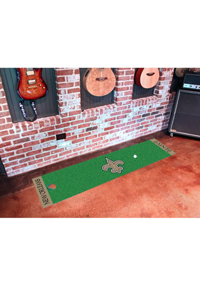 New Orleans Saints 18x72 Putting Green Runner Interior Rug - Image 1